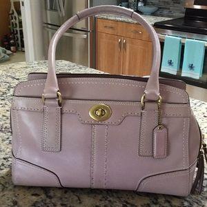 ❤️COACH❤️ Leather Lavender Bag